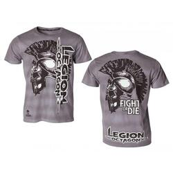 "LEGION OCTAGON ""Fight or Die"" - Grå T-Shirt"