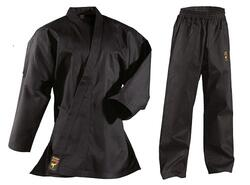 DANRHO ASIA-SHIRO Karate gi (logofri) - sort - 9 oz.