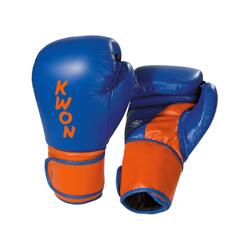 KWON SUPER CHAMP Kick-/Thaiboksehandske - Blå/orange - 10 oz. - WKU-godkendt