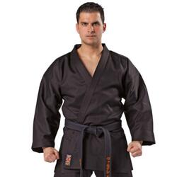 KWON TRADITIONEL Karate gi overdel  - Sort - 8 oz.