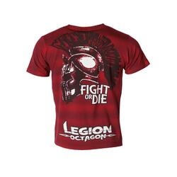 "LEGION OCTAGON ""Fight or Die"" - Rød T-Shirt"