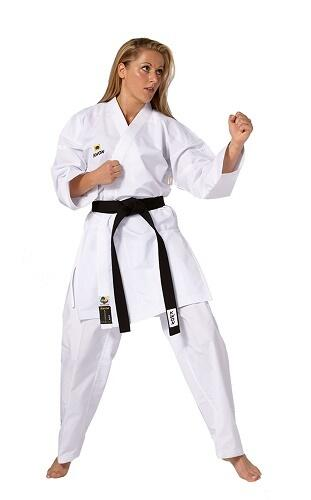KWON KOUSOKU Super Slim-fit Kumite Karate gi - 4.5 oz. - WKF
