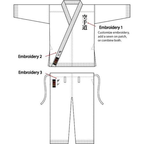 "TOKAIDO ULTIMATE ""SAW"" Karate gi - MADE in JAPAN (logofri) - 12 oz."