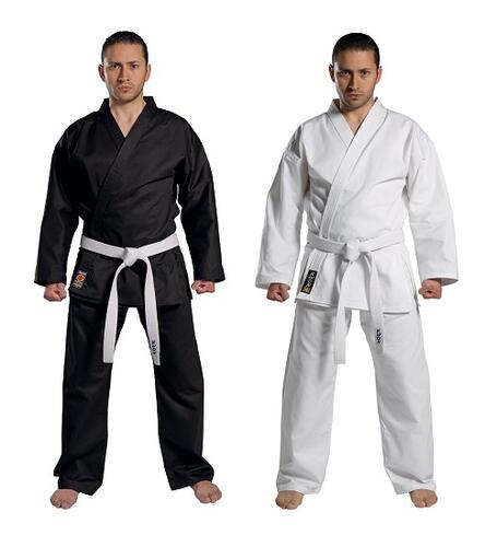 KWON TRADITIONEL Karate gi - Sort - 8 oz.