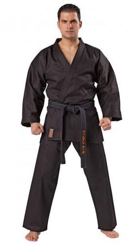 KWON TRADITIONEL Karate gi (logofri) -  sort - 8 oz.