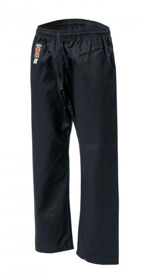 KWON TRADITIONEL Karate gi-bukser -sort - 8 oz. - KWON Karate gi-bukser traditionel -sort - 8 oz. Kvalitets bukser til feks. Wing tsun, Kung fu og Karate. Kan fås i størrelse 110-200cm Kvalitet 8 oz i 100% bomuld Elastik samt snørrelukning.