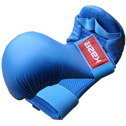 KAZE kamphandske Rød og Blå - KAZE kamphandske Røde og blå kvalitets kumitehandsker fra Kaze. Professionel hånd beskyttere lavet af kunstlæder.EU-produkt