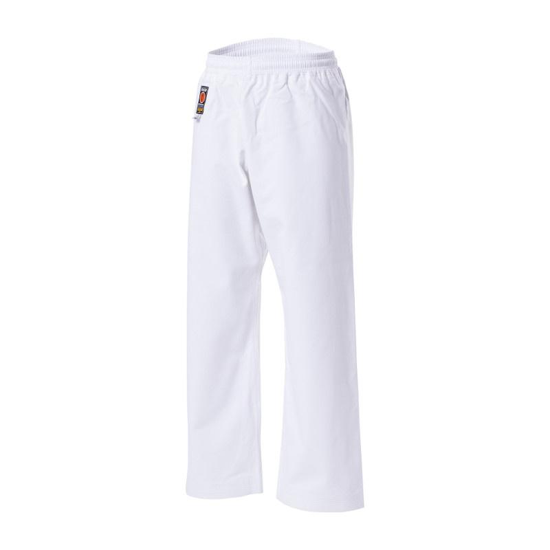 KWON TRADITIONEL gi bukser - 12 oz. - KWON gi bukser - 12 oz. Bukserne er så kraftige at de sagten kan lægges op og bruges som bukser til kata gi.Vævet til at være yderst blød og smidig. Kun tilgængelig i 12 oz. kvalitet. Materiale: 100% bomuld Farve: hvid Størrelse: 150 - 190 cm Fås også so
