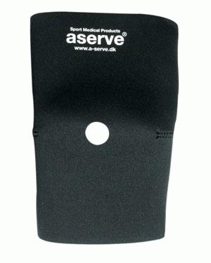 Knævarmestøttebind, neopren, åben knæ - Klassisk knæbandage med hul til knæskallen, så pres på knæskallen undgås. Giver god refleksionsvarme i stive knæ efter skader og i forbindelse med genoptræning. Fremstillet i 5 mm. neopren foran og 2 mm. neopren bagpå. Dette giver bedre fleksibilitet og k