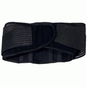 Rygstøtte med stivere - Denne justerbare rygstøtte med neoprenplade og 7 stivere giver ekstra god støtte og komfort. De 4 velcrolukninger på både rygstøtte og stropper giver stor fleksibilitet, og sikre optimal pasform. Stropperne fordeler trykket jævnt over lænden og giver en f