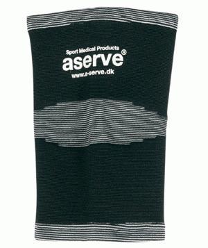 Elastikbind knæ - Anatomisk syet elastikbind til knæet. Har god kompressionseffekt og glider ikke ned. Sort bind, med højkvalitets elastik, der beholder elasticiteten. Anvendes ved løse ledbånd i og omkring knæet. Kan vaskes i maskine ved 40 grader og håndvaskes. Elastikb
